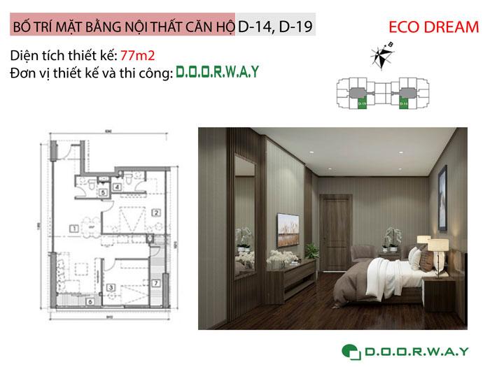 MB-77m2- Cách chọn đồ nội thất căn 2 phòng ngủ Eco Dream 2019