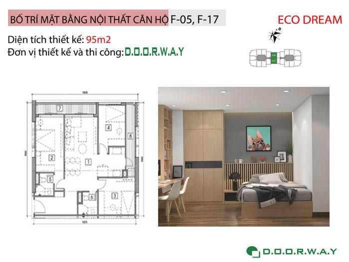 MB-95m2- [Xem ngay] Thiết kế nội thất chung cư Eco Dream đẹp nhất hiện nay