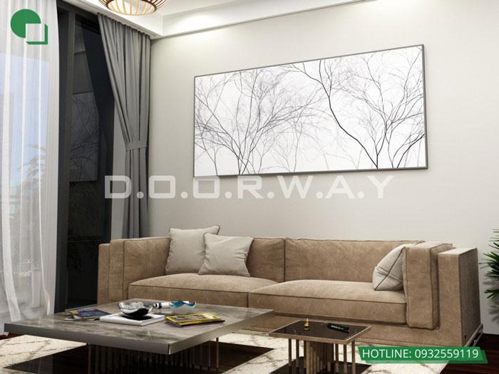 PK1- Mẫu thiết kế đơn giản cho nội thất căn hộ 74m2 Eco Dream