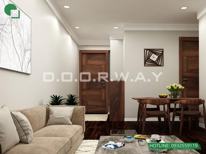 PK2- Mẫu thiết kế đơn giản cho nội thất căn hộ 74m2 Eco Dream