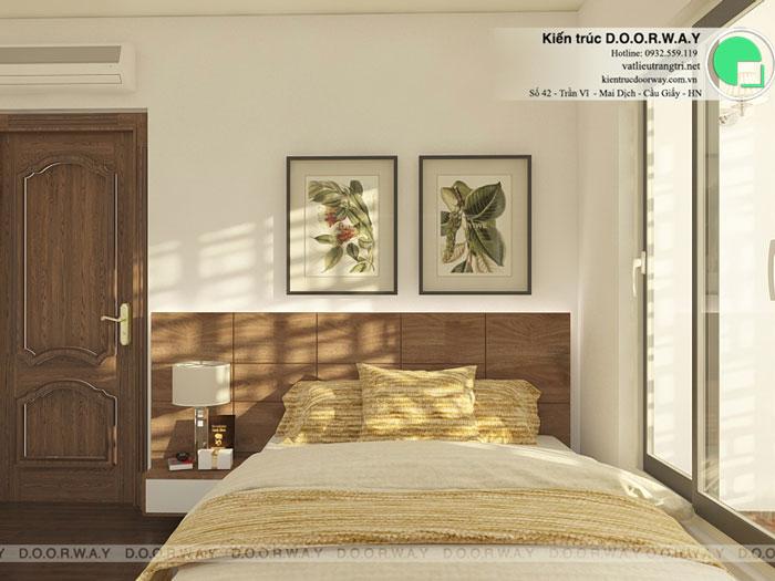PN1(1)- Mẫu thiết kế đơn giản cho nội thất căn hộ 74m2 Eco Dream