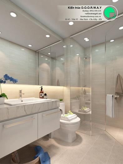 WC(2)- Mẫu thiết kế đơn giản cho nội thất căn hộ 74m2 Eco Dream