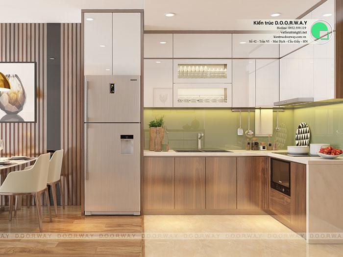 (4)Thiết kế phòng bếp đẹp 2020
