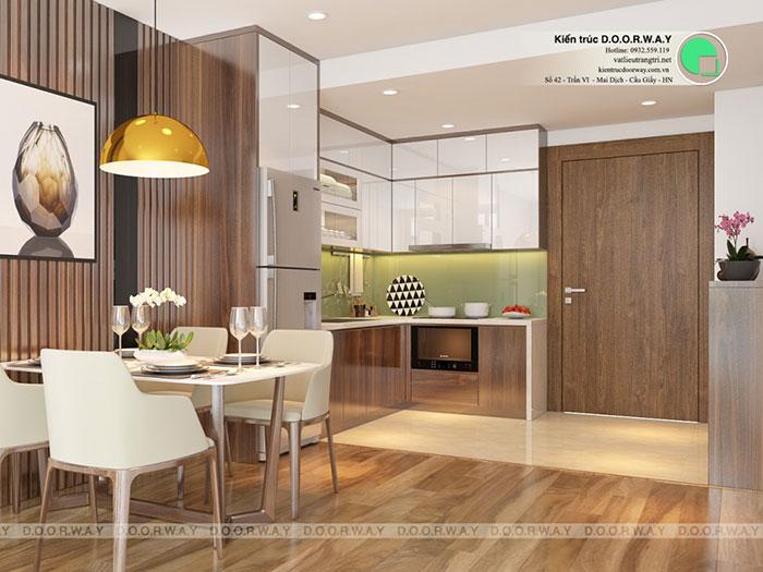 (5)Thiết kế phòng bếp đẹp 2020