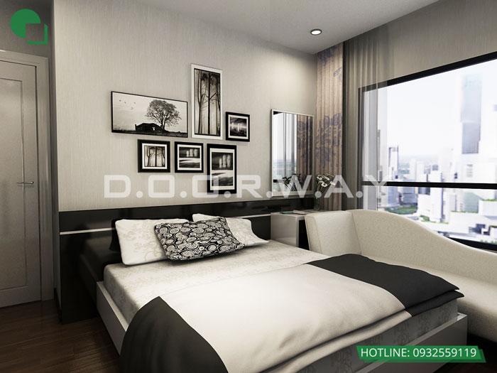 1- Gợi ý báo giá thi công nội thất phòng ngủ chung cư Times City - a Nam