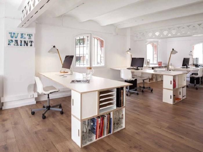 1- Những mẫu thiết kế văn phòng nhỏ hiện đại và ấn tượng