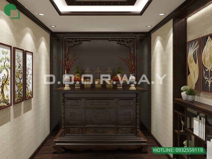 1- Những mẫu thiết kế bàn thờ cho căn hộ chung cư chuẩn kích thước