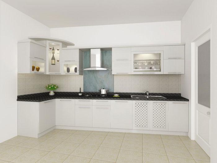 1- Đơn giản khi chọn thiết kế nội thất nhà bếp nhỏ đẹp hiện đại
