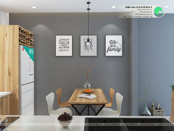 10a- Đơn giản khi chọn thiết kế nội thất nhà bếp nhỏ đẹp hiện đại