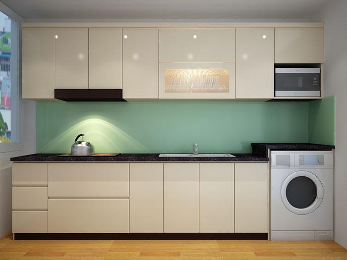 1a- Đơn giản khi chọn thiết kế nội thất nhà bếp nhỏ đẹp hiện đại