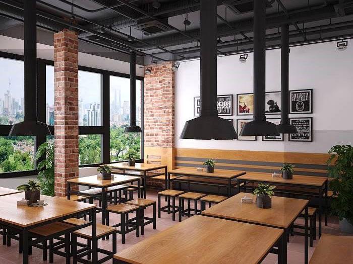 2-thiết kế nhà hàng đơn giản