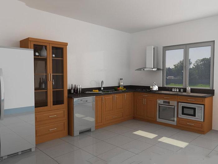 2- Đơn giản khi chọn thiết kế nội thất nhà bếp nhỏ đẹp hiện đại