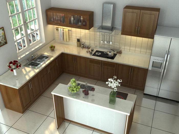 2a- Đơn giản khi chọn thiết kế nội thất nhà bếp nhỏ đẹp hiện đại