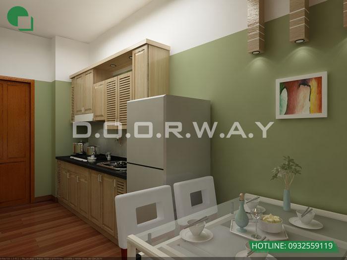 3a- Đơn giản khi chọn thiết kế nội thất nhà bếp nhỏ đẹp hiện đại