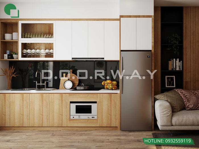4- Đơn giản khi chọn thiết kế nội thất nhà bếp nhỏ đẹp hiện đại