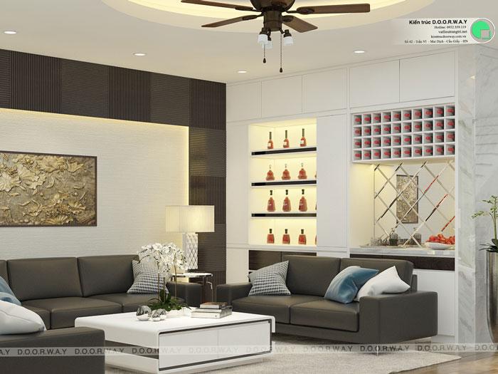 4-thiết kế phòng khách nhà ống 4m