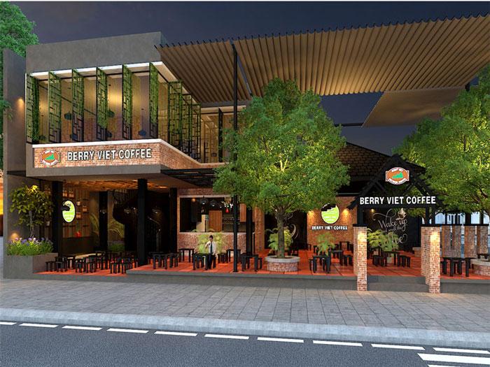 5- Gợi ý 12 mẫu quán cafe đơn giản đẹp với mặt tiền xanh mát