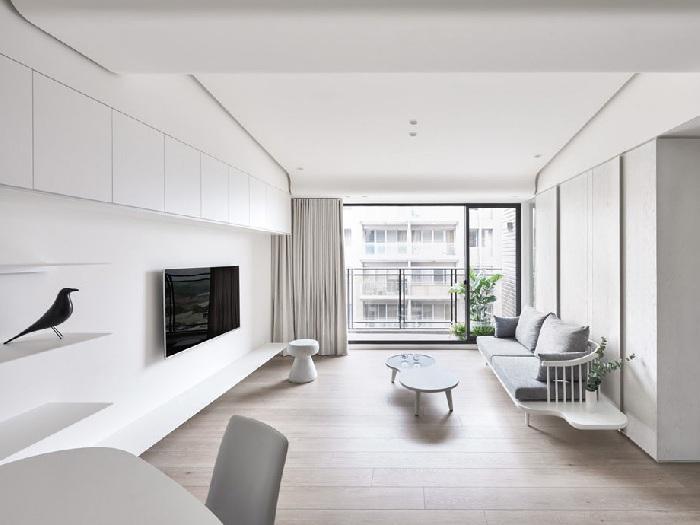 5- 100 + thiết kế nội thất nhà màu trắng sang trọng và tinh tế