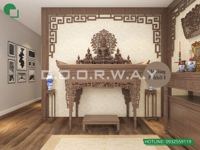 5- Những mẫu thiết kế bàn thờ cho căn hộ chung cư chuẩn kích thước