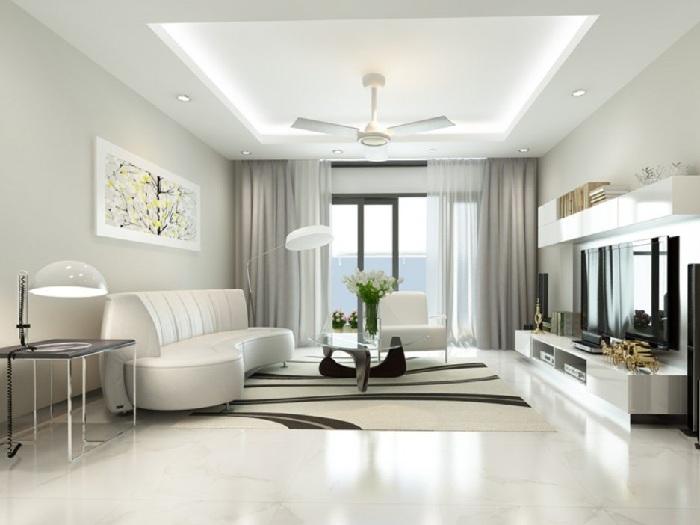 6- 100 + thiết kế nội thất nhà màu trắng sang trọng và tinh tế