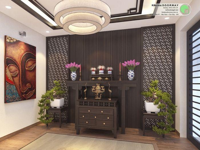 6- Những mẫu thiết kế bàn thờ cho căn hộ chung cư chuẩn kích thước