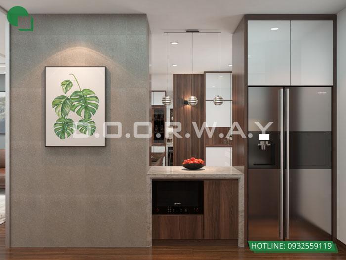 7a- Đơn giản khi chọn thiết kế nội thất nhà bếp nhỏ đẹp hiện đại