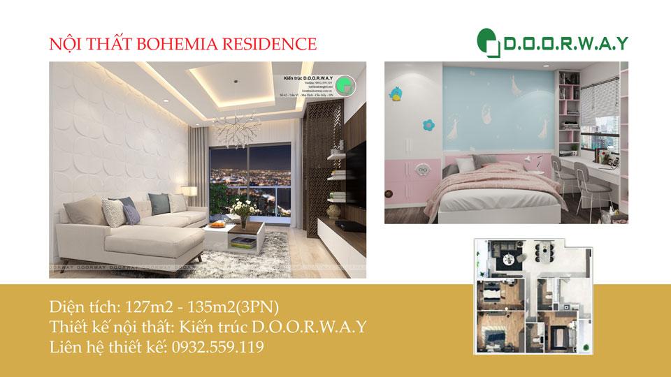 Ảnh tiêu biểu- Thiết kế nội thất căn 3 phòng ngủ Bohemia Residence tiện nghi mà đẹp