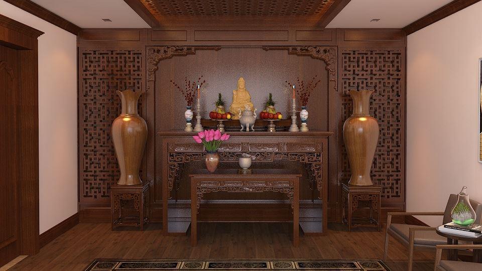 Ảnh tiêu biểu- Những mẫu thiết kế bàn thờ cho căn hộ chung cư chuẩn kích thước