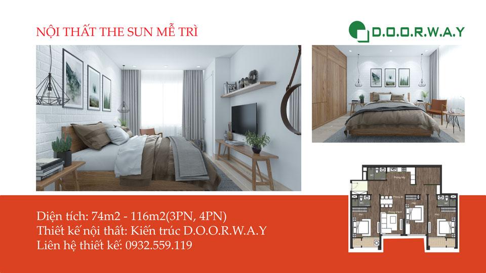 Ảnh tiêu biểu- Ấn tượng với thiết kế nội thất chung cư The Sun Mễ Trì