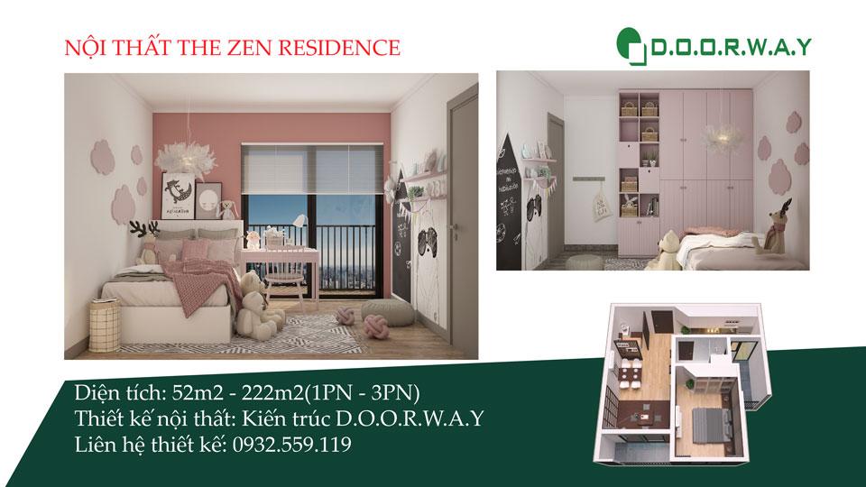 Ảnh tiêu biểu- [Xem ngay] Thiết kế nội thất chung cư The Zen Residence Gamuda