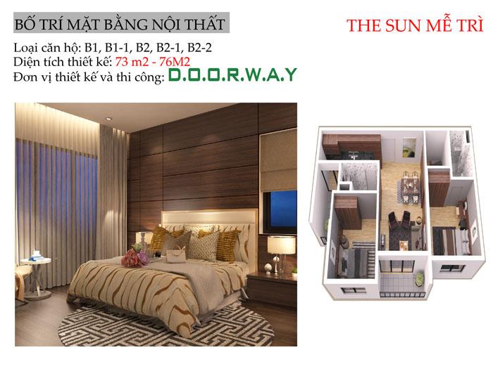 MB- Nội thất căn 2 phòng ngủ The Zen Residence năm 2019 - 2020