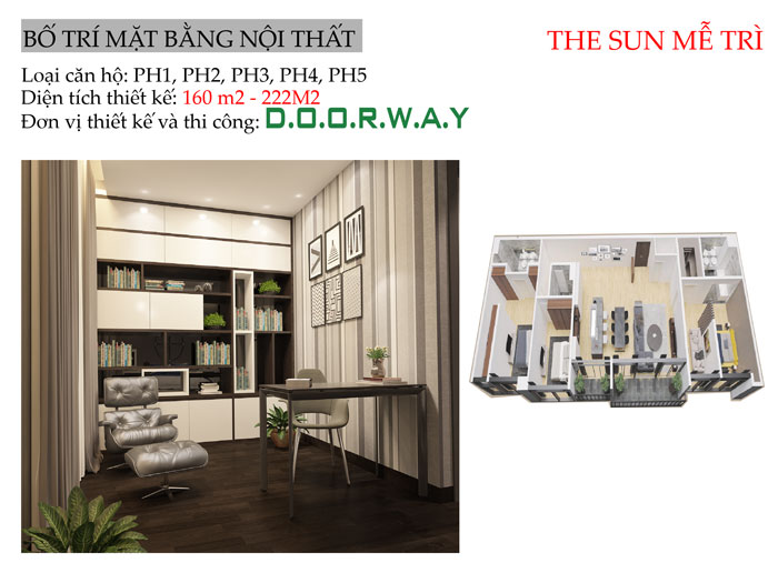 MB-222m2- [Xem ngay] Thiết kế nội thất chung cư The Zen Residence Gamuda