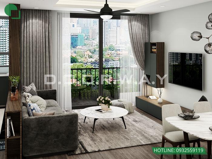 PK2- Thiết kế nội thất căn 3 phòng ngủ Bohemia Residence tiện nghi mà đẹp