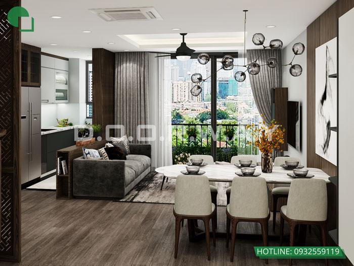 PK2- [Xem ngay] Thiết kế nội thất chung cư The Zen Residence Gamuda