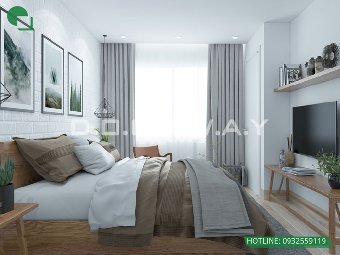 PN3(2)- Mẫu nội thất căn 4 phòng ngủ The Sun Mễ Trì - Căn hộ 116m2
