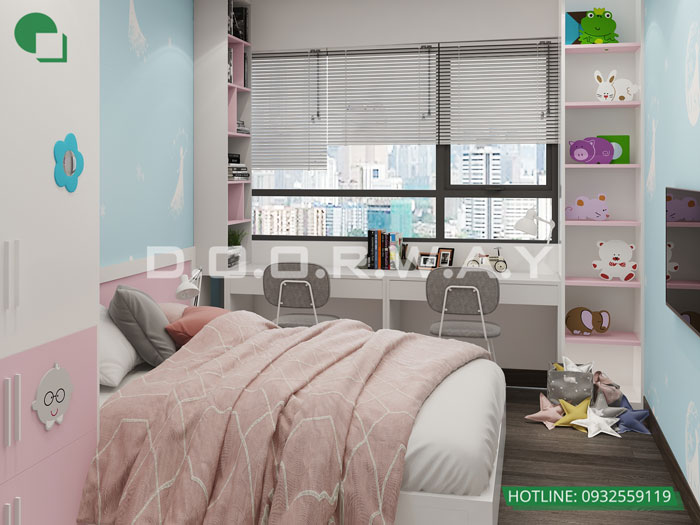 PN3(2)- [Full] Thiết kế nội thất căn hộ 98m2 Eco Dream - a Thượng