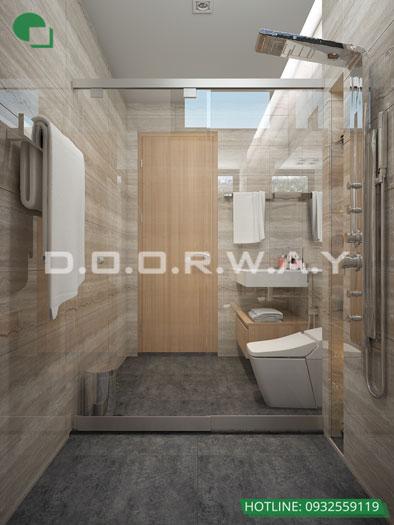 WC(1)- Mẫu nội thất căn 4 phòng ngủ The Sun Mễ Trì - Căn hộ 116m2