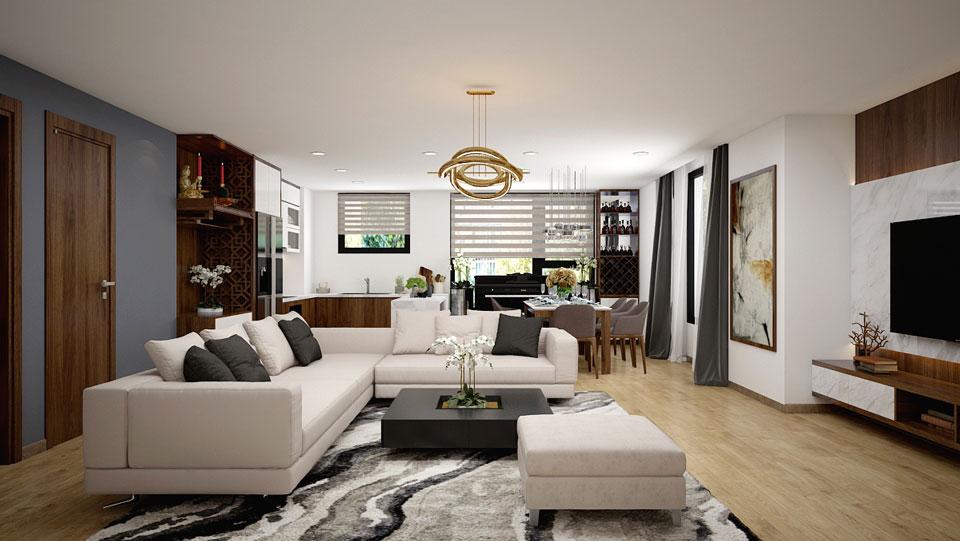 9 mẫu thiết kế phòng khách nhà ống 4m đẹp bạn nên xem ngay
