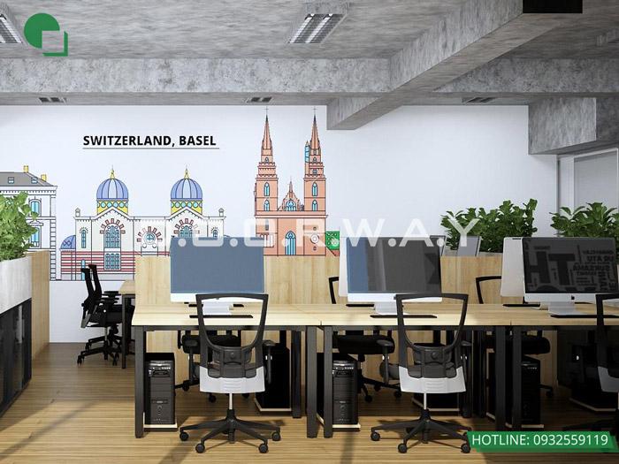 1- Những mẫu thiết kế văn phòng nhỏ hiện đại và ấn tượng.