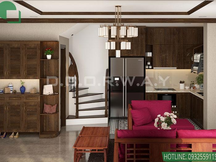 (4)Những mẫu thiết kế nội thất phòng khách nhà ống đẹp