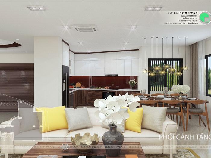 (5)Những mẫu thiết kế nội thất phòng khách nhà ống đẹp