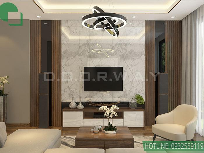 (6)Những mẫu thiết kế nội thất phòng khách nhà ống đẹp
