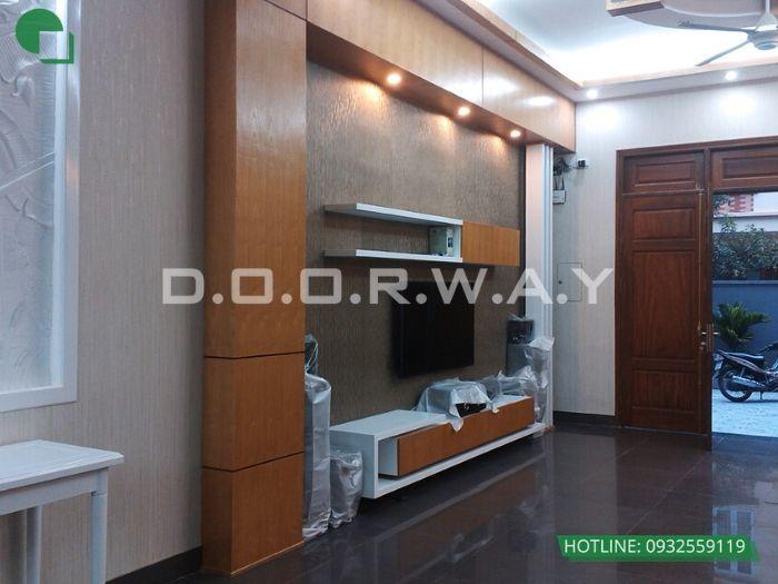 1-Thi công nội thất phòng khách bằng gỗ - xu hướng thời đại