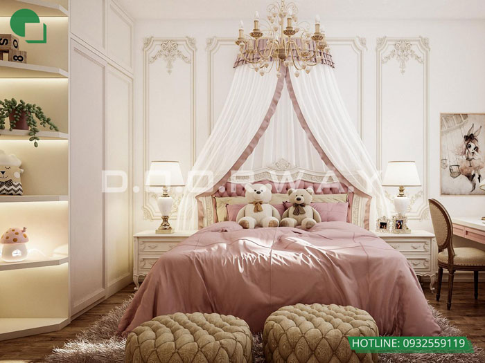 11- Ghim ngay 7 mẫu nội thất phòng ngủ đẹp cho bé gái