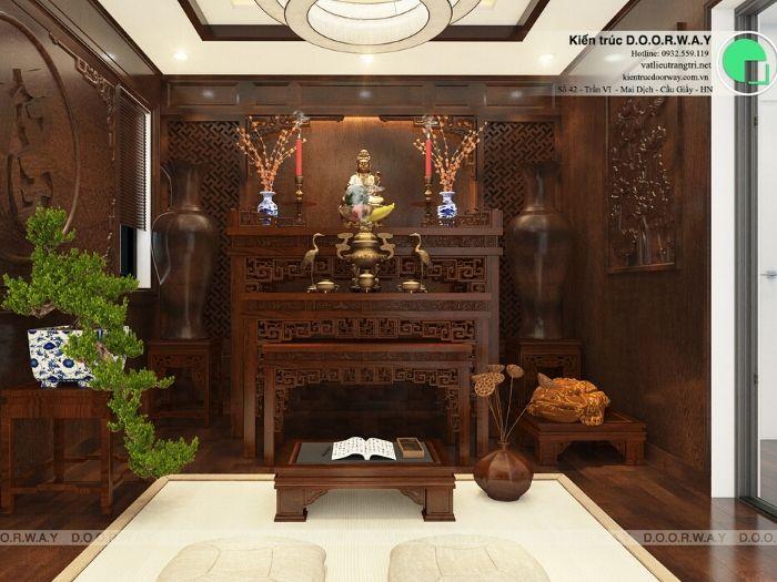 (2)9 + mẫu phòng thờ gia tiên đẹp hợp phong thủy