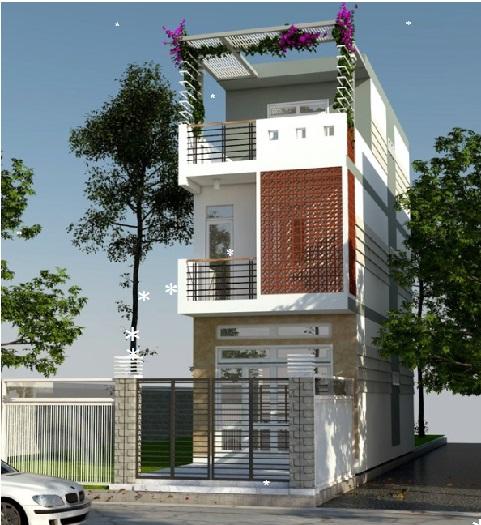 (3)7 mẫu thiết kế nhà phố 3 tầng 5x16m đơn giản nhưng ấn tượng