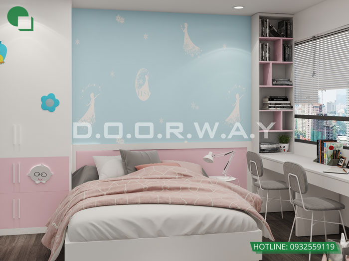 7- Ghim ngay 7 mẫu nội thất phòng ngủ đẹp cho bé gái