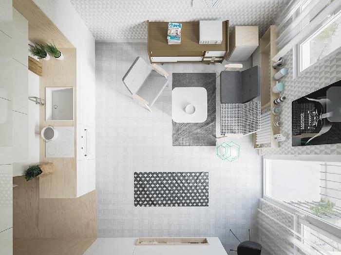 (9)Chiêm ngưỡng chi tiết 3 thiết kế căn hộ cho người nước ngoài thuê