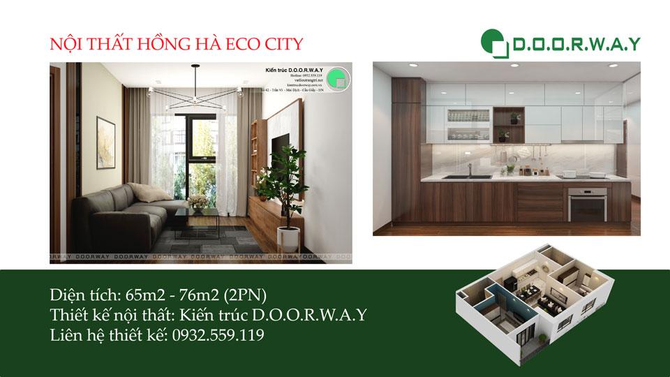 Ảnh tiêu biểu- Mẫu nội thất căn 2 phòng ngủ Hồng Hà Eco City đẹp đơn giản