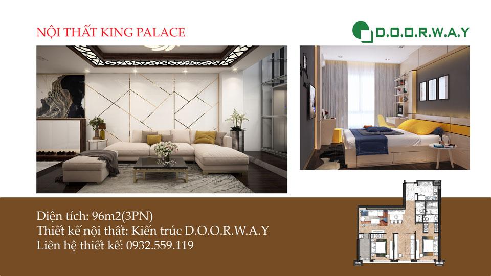 Ảnh tiêu biểu- Gam màu hiện đại trong nội thất căn hộ 96m2 King Palace